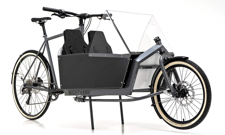 KP Cyclery Nighthawk steel cargo bike, affordable EU-made customizable long john cargo bikes,custom accessories