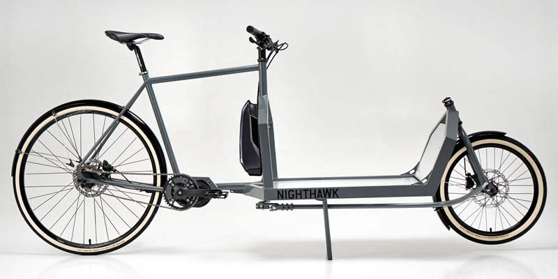 KP Cyclery Nighthawk steel cargo bike, affordable EU-made customizable long john cargo bikes,Shimano EP8 e-bike