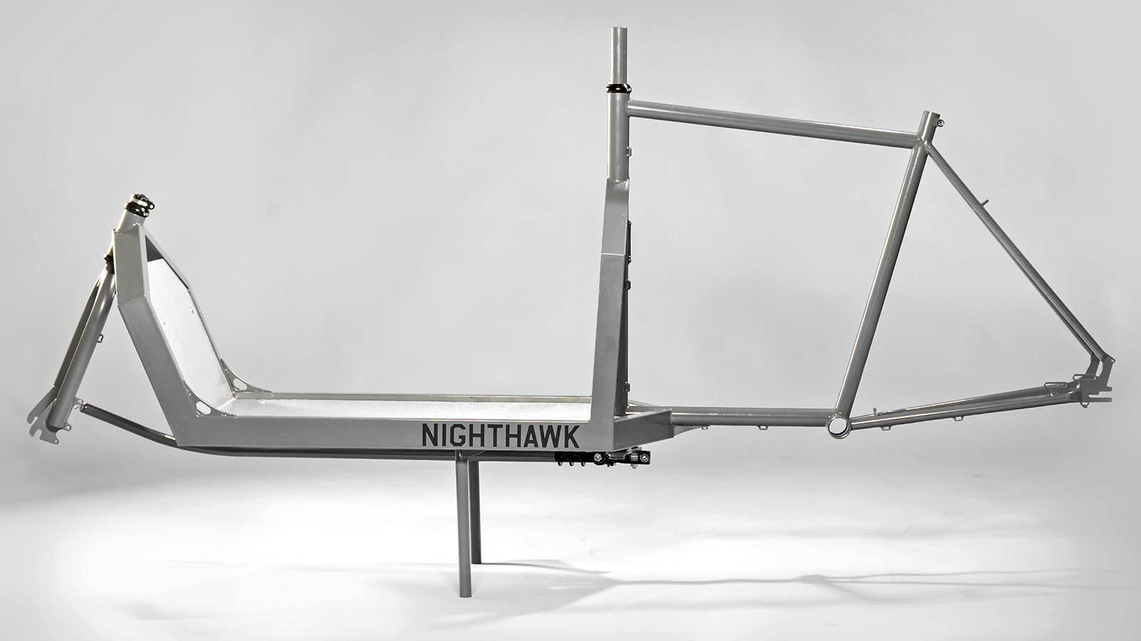 KP Cyclery Nighthawk steel cargo bike, affordable EU-made customizable long john cargo bikes,frameset