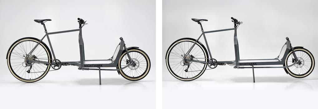KP Cyclery Nighthawk steel cargo bike, affordable EU-made customizable long john cargo bikes,Mini or standard length