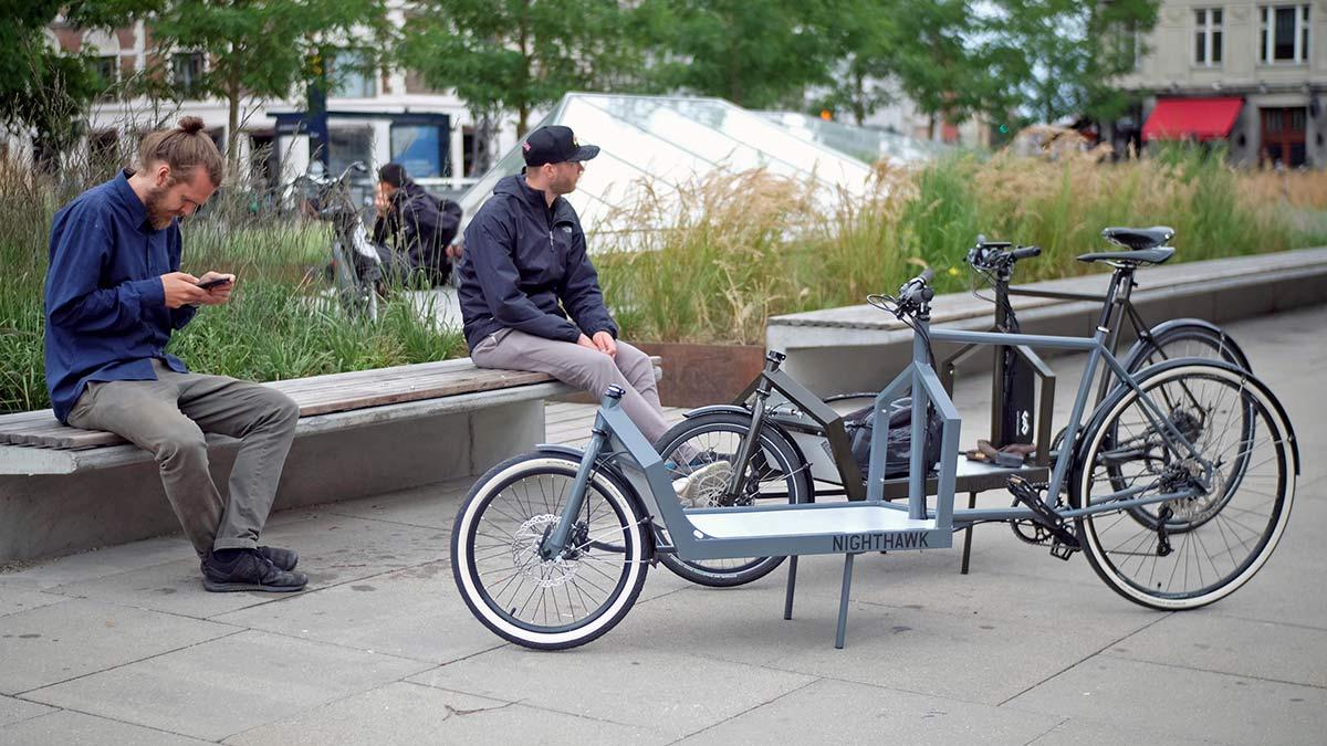 KP Cyclery Nighthawk steel cargo bike, affordable EU-made customizable long john cargo bikes,city