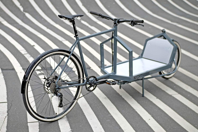 KP Cyclery Nighthawk steel cargo bike, affordable EU-made customizable long john cargo bikes
