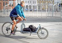 KP Cyclery Nighthawk steel cargo bike, affordable EU-made customizable long john cargo bikes, riding