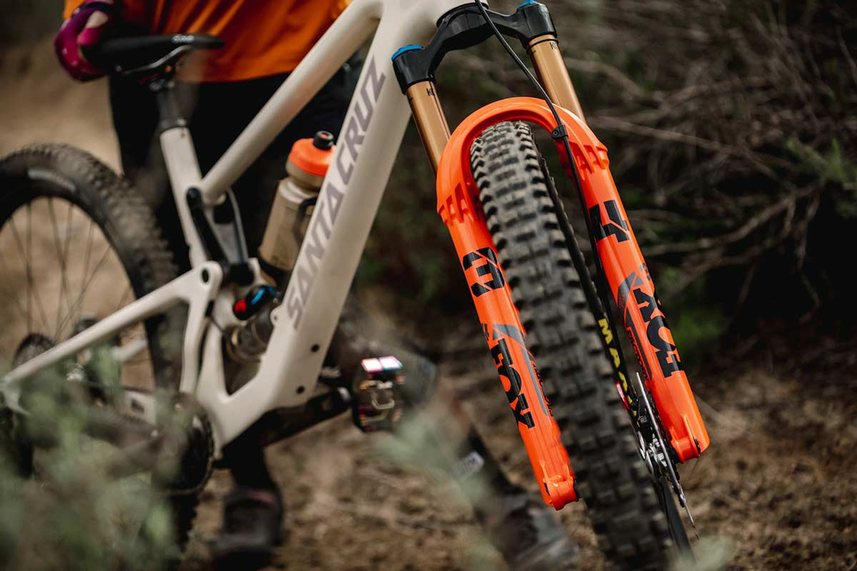 2022 fox 34 fork updated stiffer arch more headtube clearance