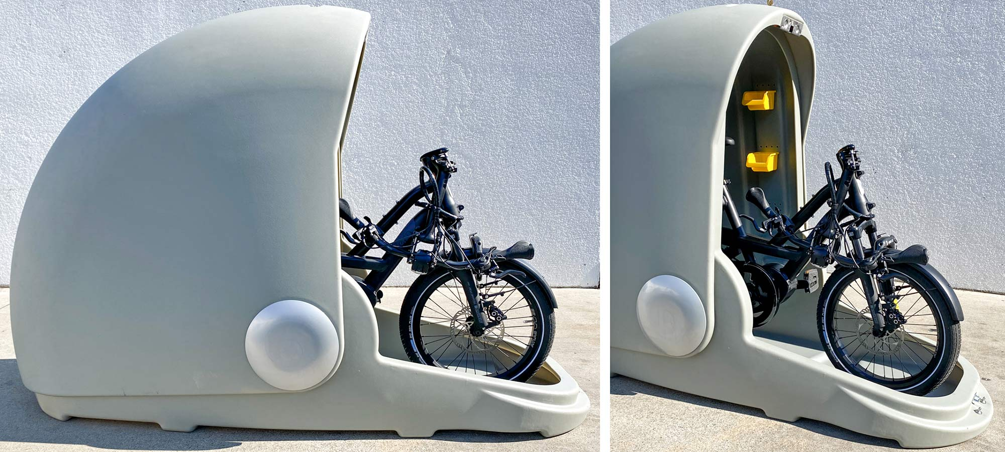 Alpen Bike Capsule offers protected, secure parking for urban commuters