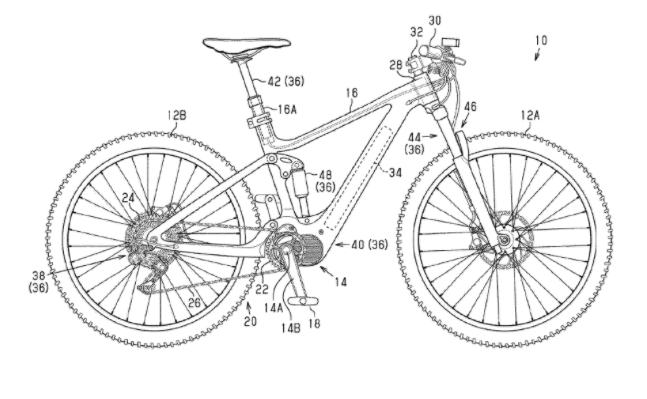 Bike suspension outline