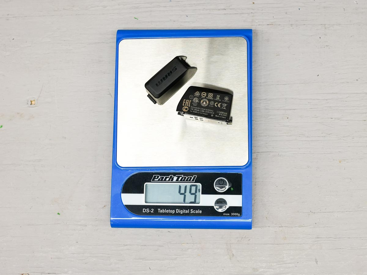 Rival eTap AXS wireless road group actual weight batteries
