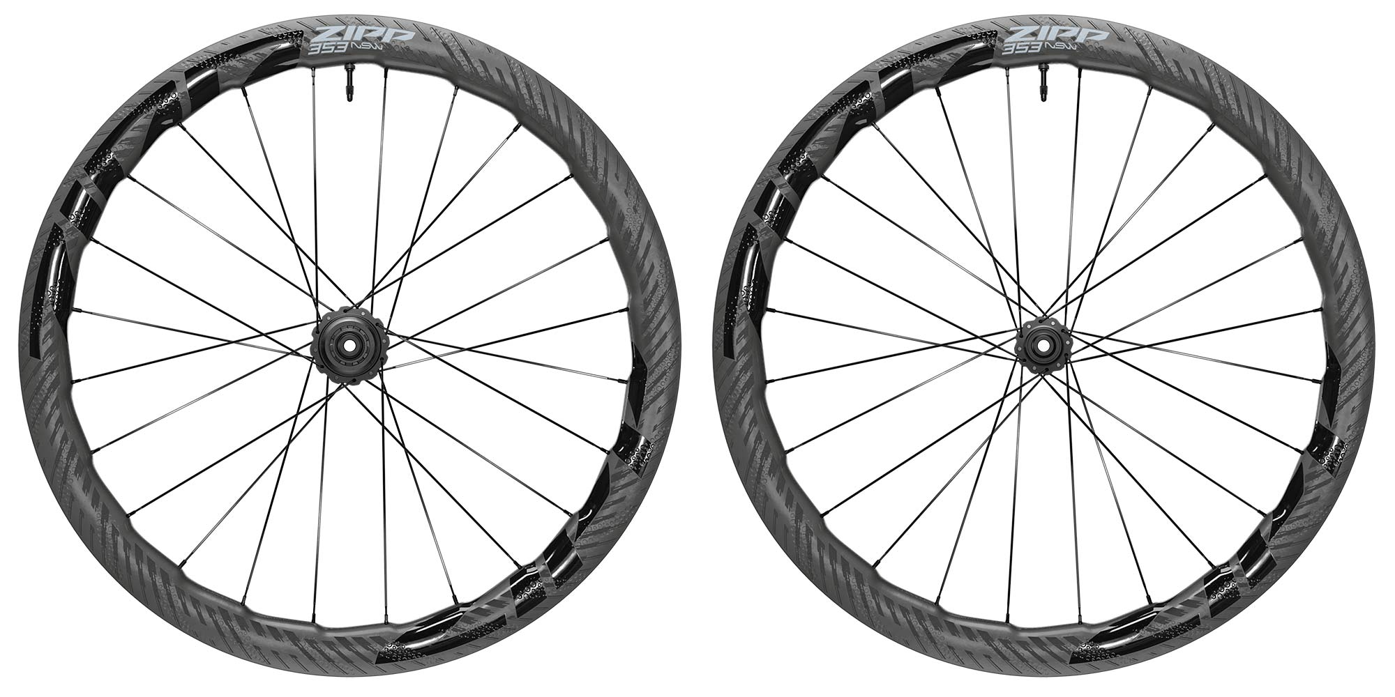 Zipp 353 NSW tubeless wheels, ultra-wide 25mm internal hookless tubeless carbon disc brake road bike wheelset,pair