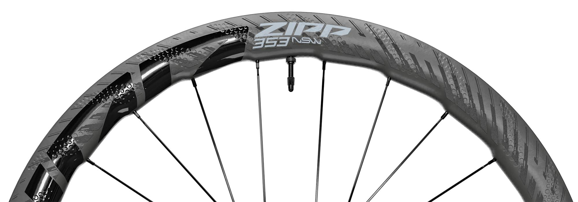 Zipp 353 NSW tubeless wheels, ultra-wide 25mm internal hookless tubeless carbon disc brake road bike wheelset, rim tech