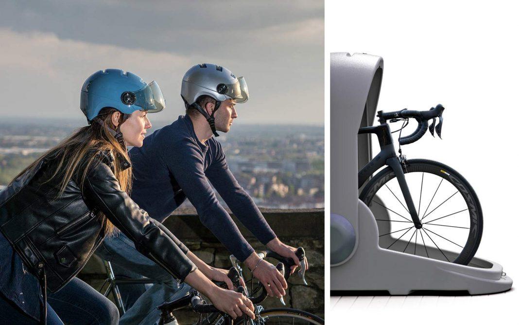 Kask Urban R city commuter bike helmet, Alpen Bike Capsule bike storage locker