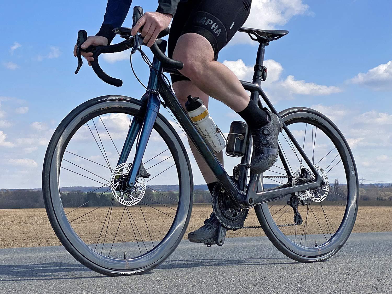 2021 Campagnolo Bora Ultra WTO aero carbon road bike wheels, riding