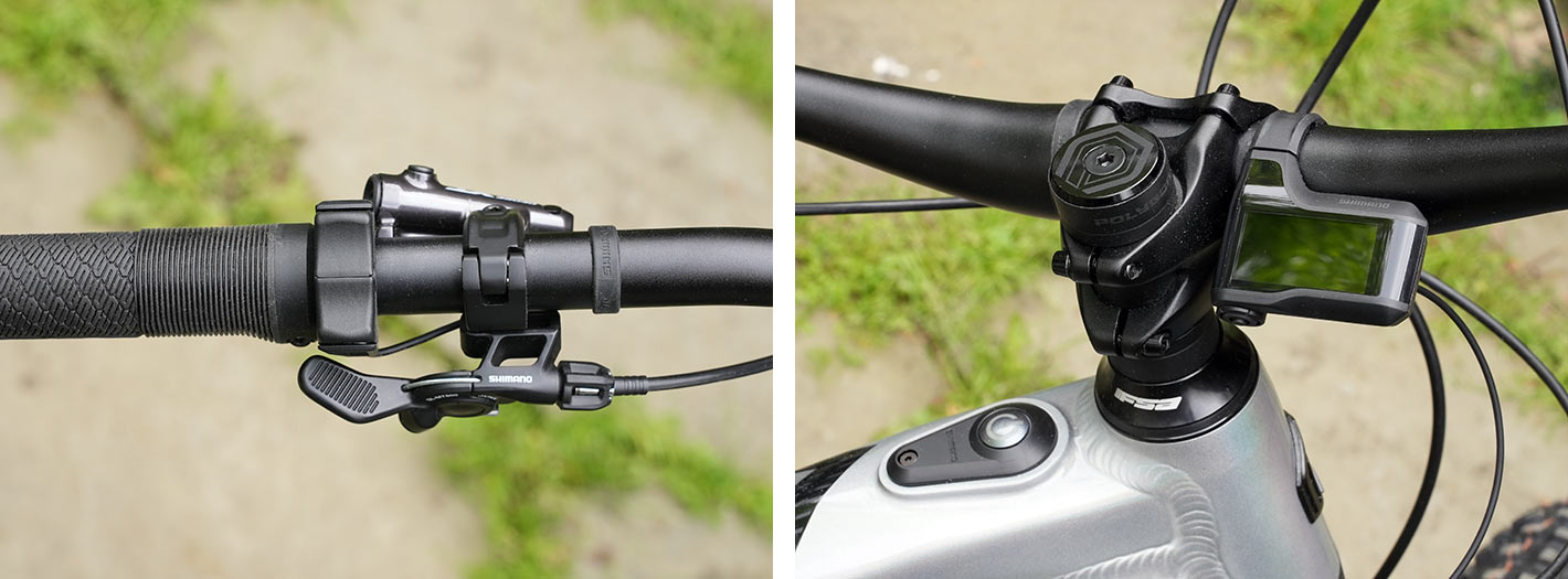 shimano ep8 e-MTB control switches and display