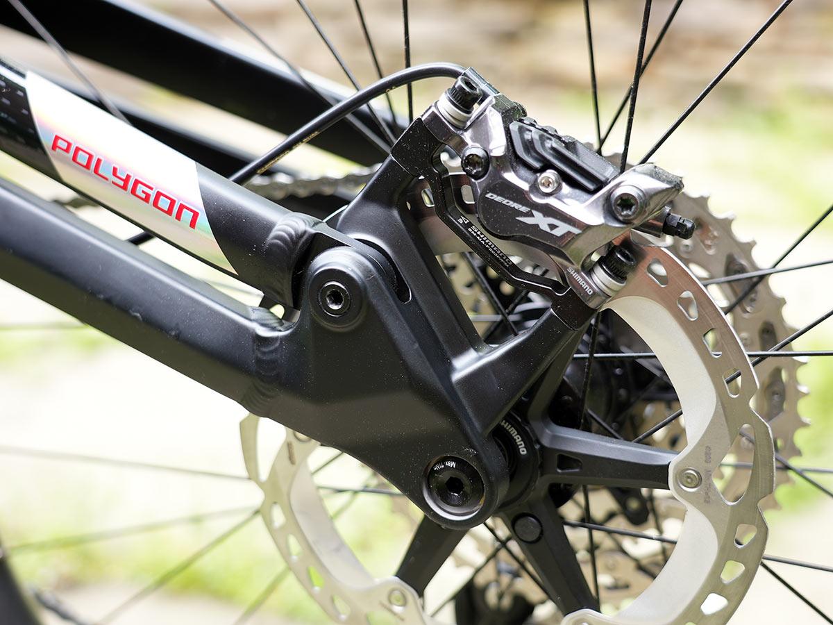 polygon mt bromo e mountain bike rear dropout linkage