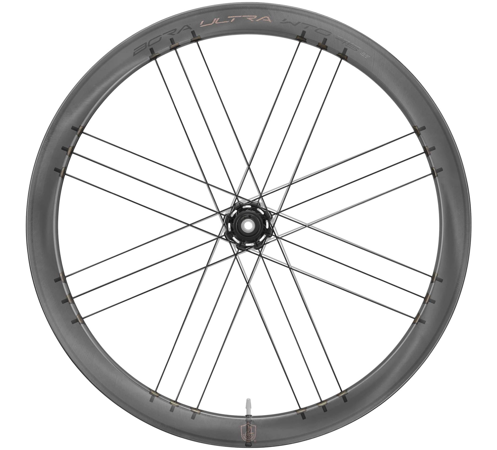 2021 Campagnolo Bora Ultra WTO aero carbon road bike wheelset, x-ray view internal nipples