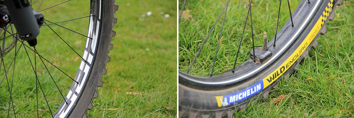 2021 katy winton nukeproof giga bike check wheels tires choice