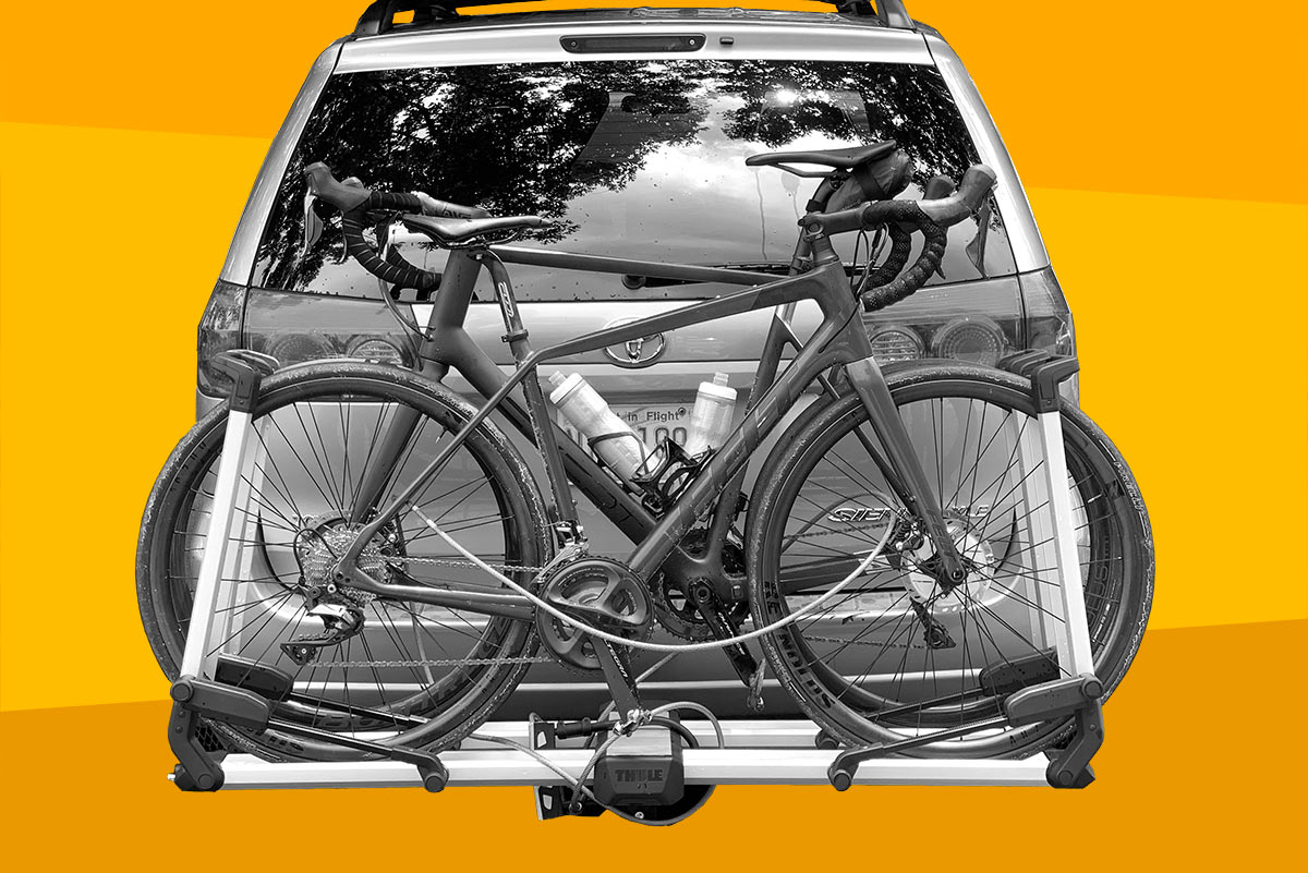 best hitch bike rack tray style for two bikes is the thule helium