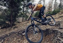 2021 Prime Thunderflash EN bike, affordable consumer-direct carbon 29er enduro mountain bike, riding