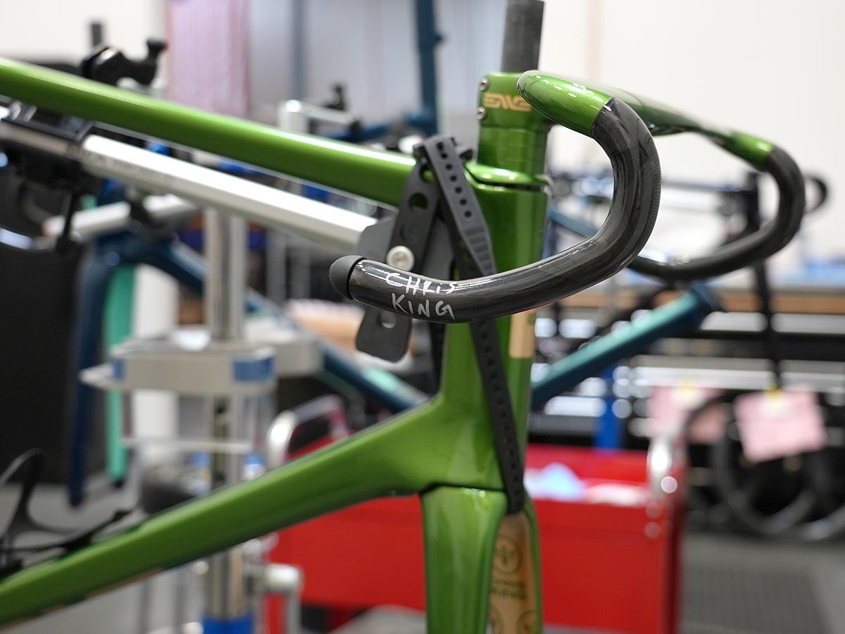 custom painted example of enve road bike for chris king