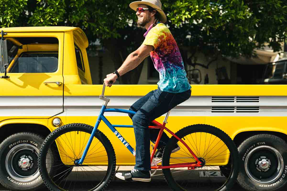 State Bicycle Co. x Grateful Dead, guy on Klunker