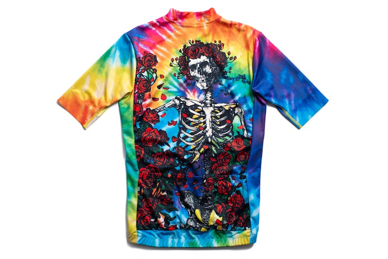State Bicycle Co. x Grateful Dead, tie-dye skulls jersey