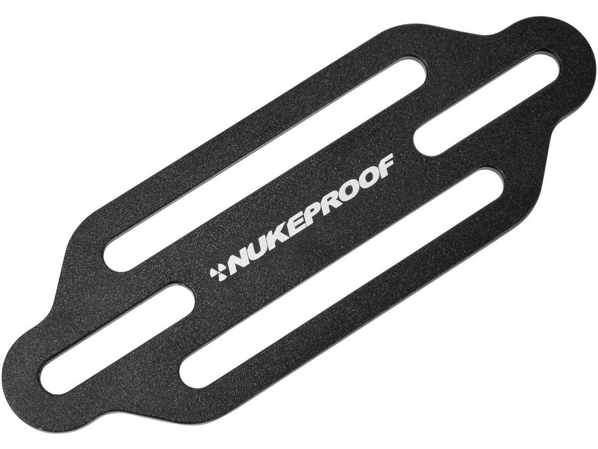 nukeproof horizon accessories strap bolt mounted alloy back plate