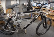 bicycle with hydraulic shocks for tubes built by youtuber colin furze