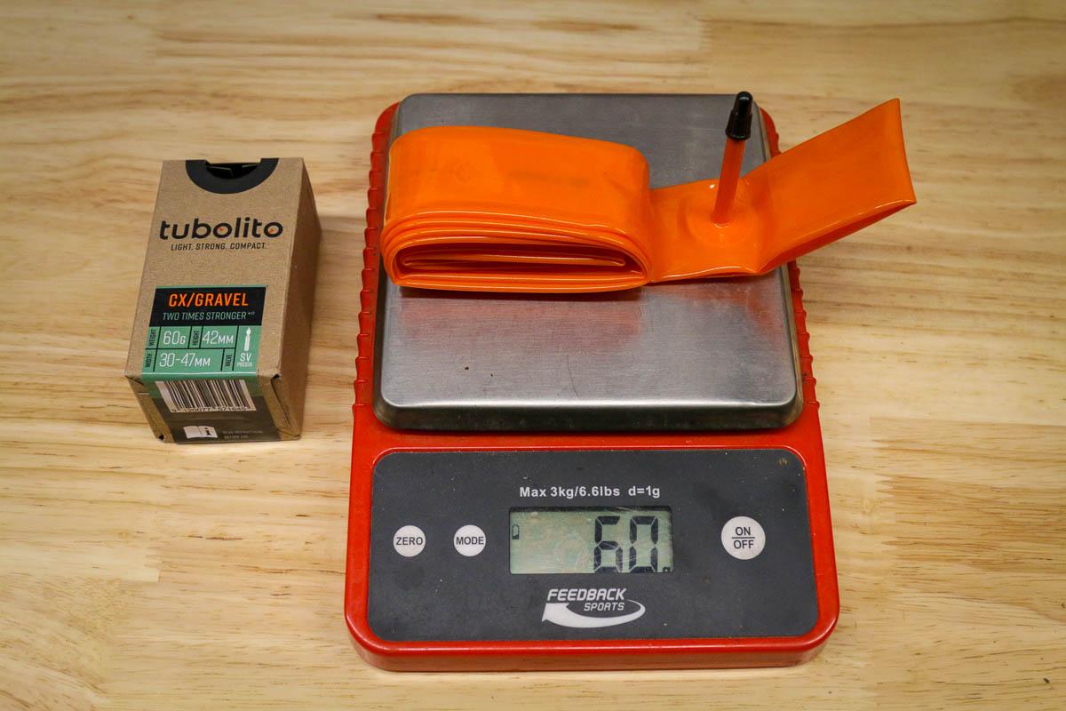 Tubolito cx/gravel inner tube weight