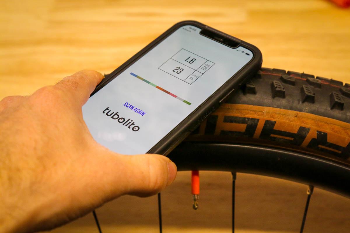 Tubolito PSENS smart inner tube app