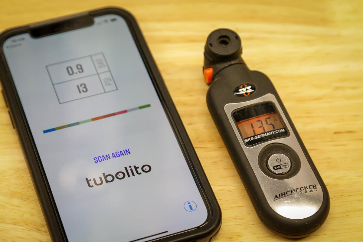 Tubolito PSENS smart inner tube readout