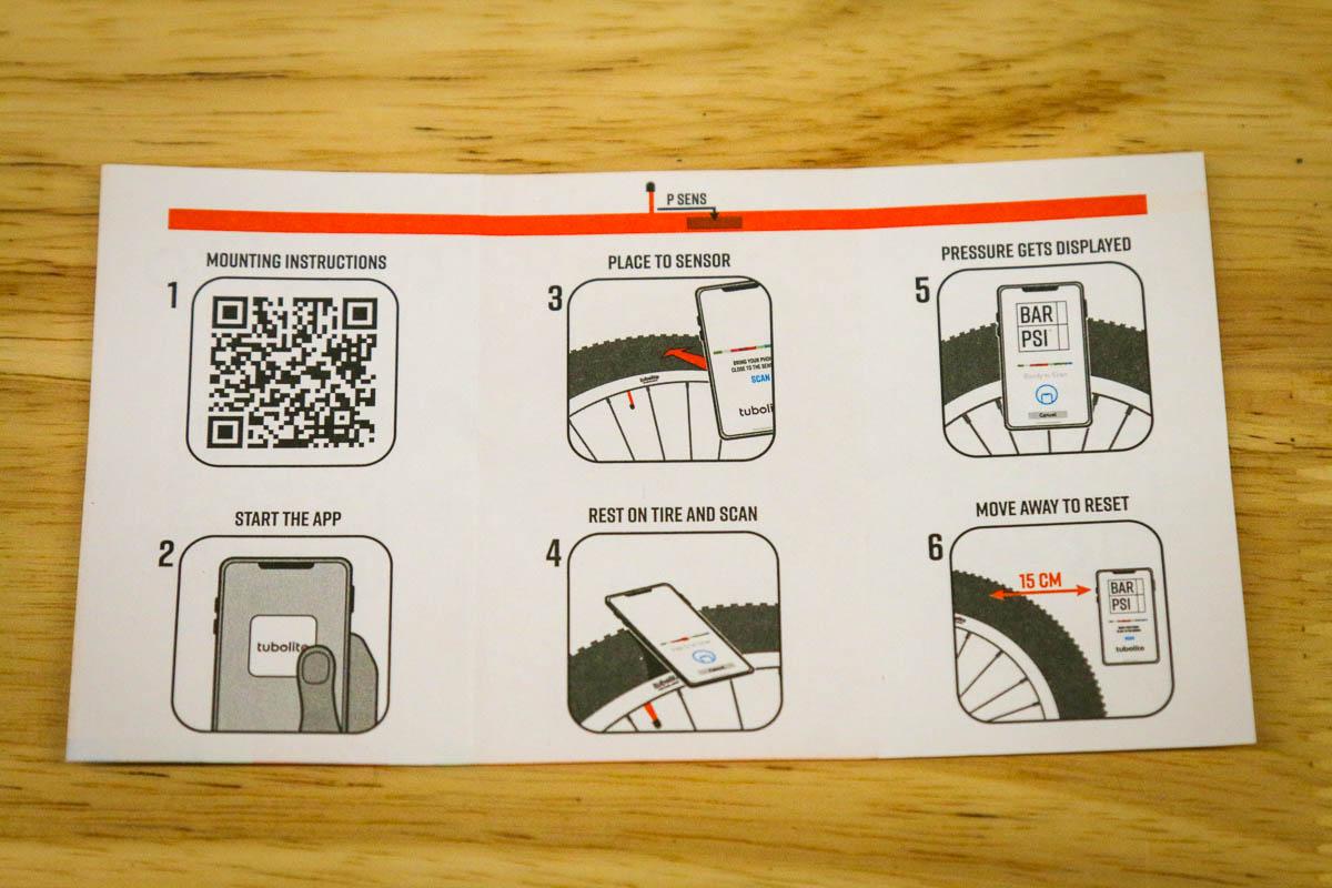 Tubolito PSENS smart inner tube instructions