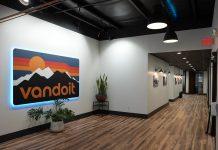 vandoit new headquarters lobby with logo sign