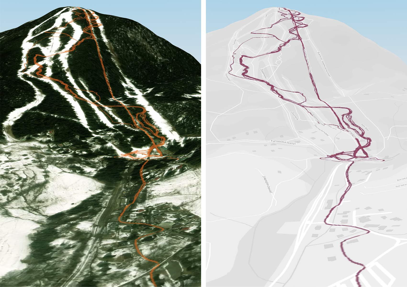 Strava 3D Heatmaps, strava premium subscription activity ride data 3D terrain map overlay,Spicak