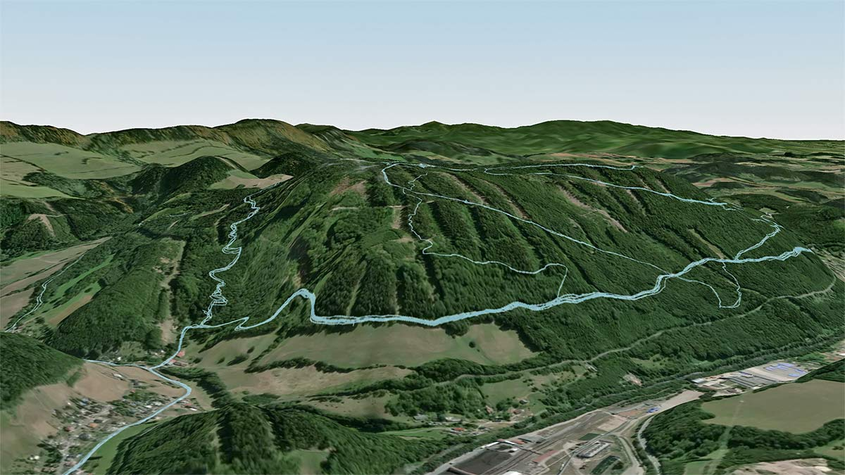 Strava 3D Heatmaps, strava premium subscription activity ride data 3D terrain map overlay,Trutnov Trails