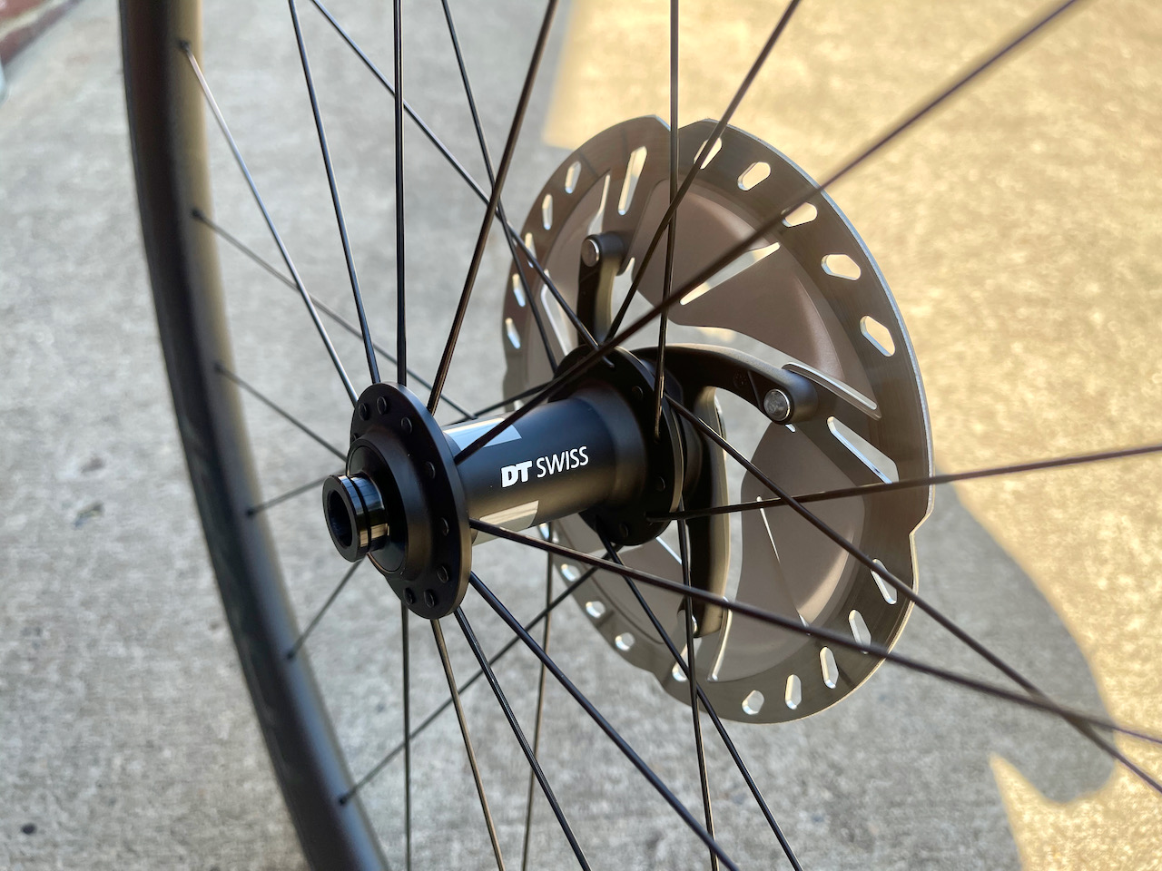 Roval C38 carbon wheels front wheel detail