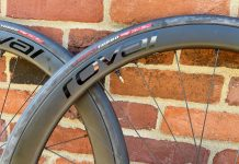 Roval C38 carbon wheels rim and tire