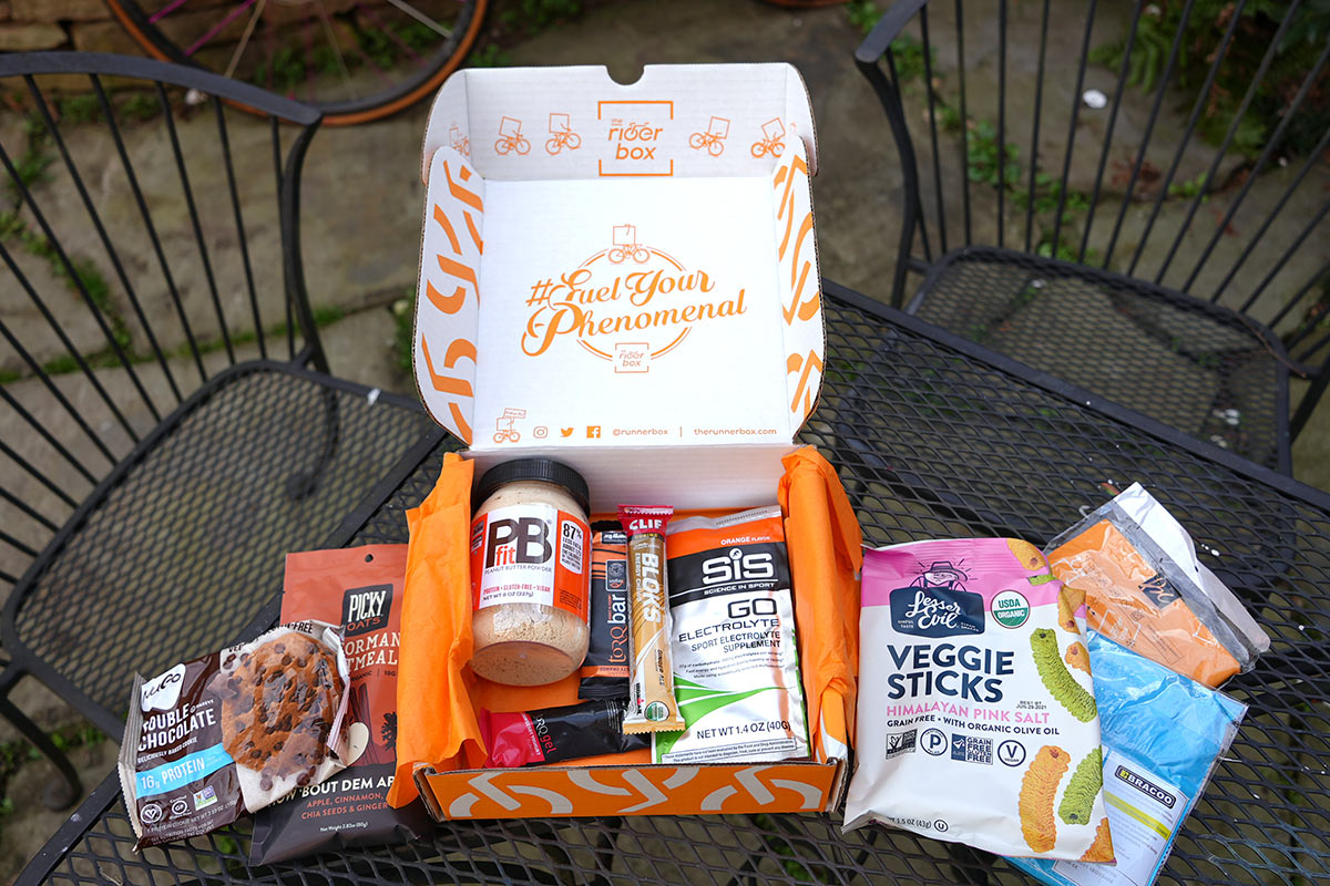 riderbox subscription nutrition and training products gift box for cyclists