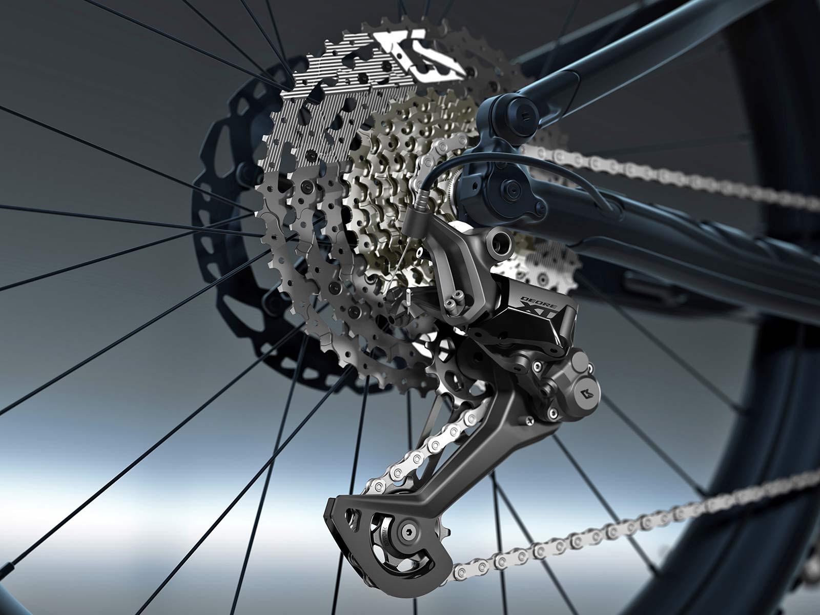 Shimano Deore XT LinkGlide drivetrain is 3x more durable, new LG MTB long-wearing mountain bike groupset,XT LG derailleur