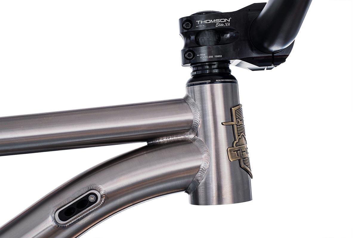 thomson hooch 66.5 degree head tube angle titanium hardtail mtb