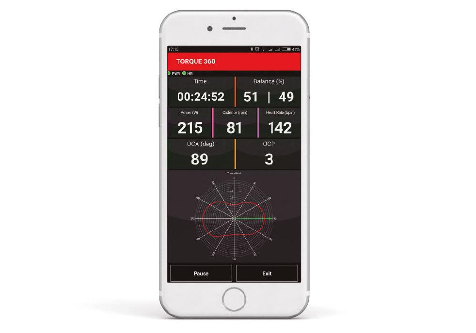 rotor power meter torque measurement shown in app
