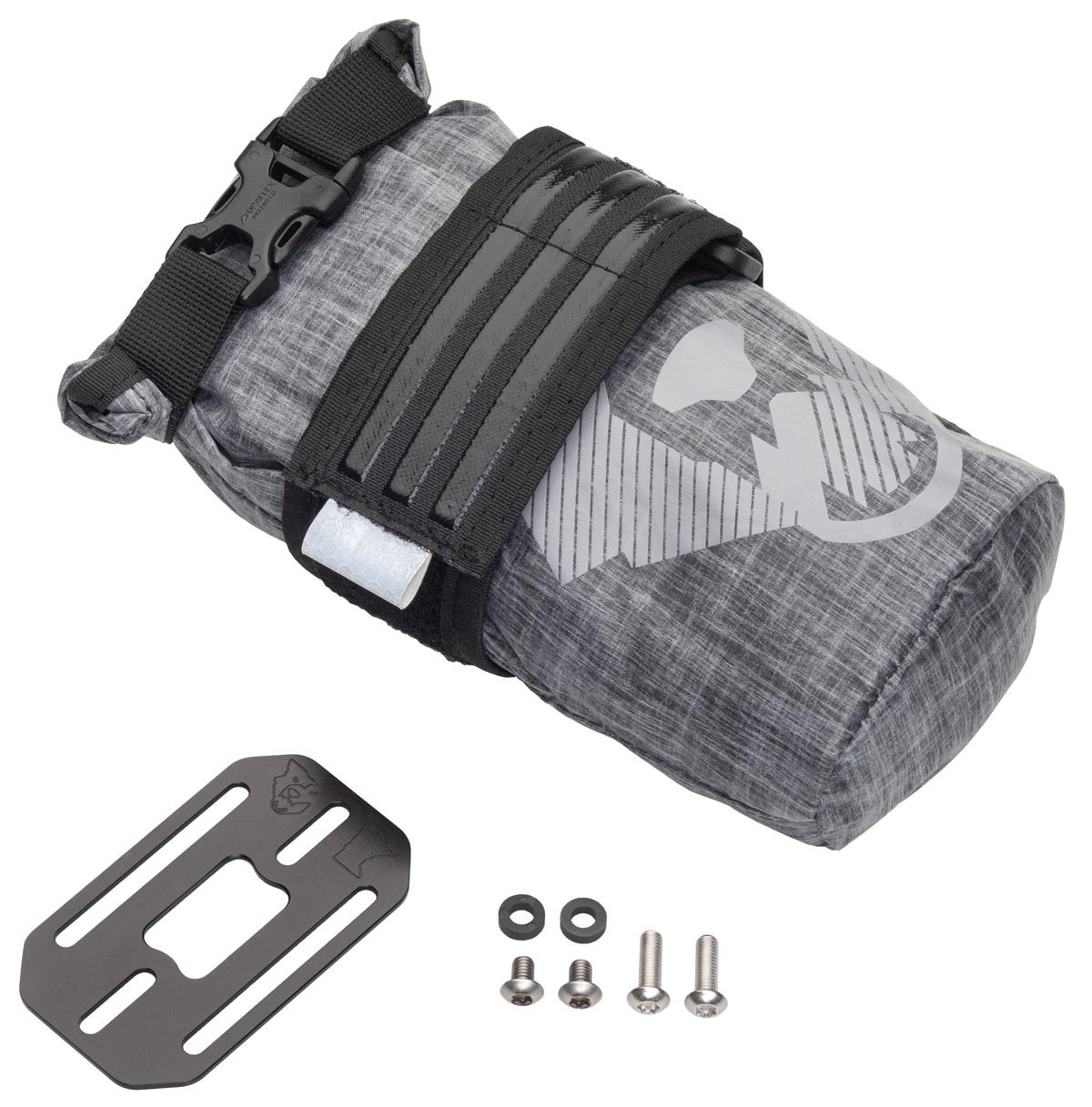 Wolf Tooth Components B-RAD TekLite roll-top accessory bags with B-RAD base