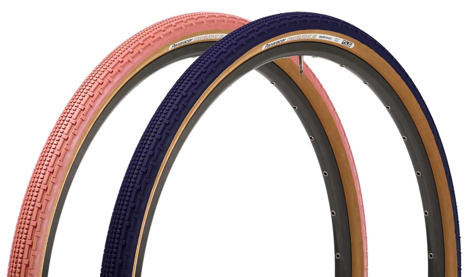 Pansy Blue & Flamingo Pink Panaracer GravelKing tires