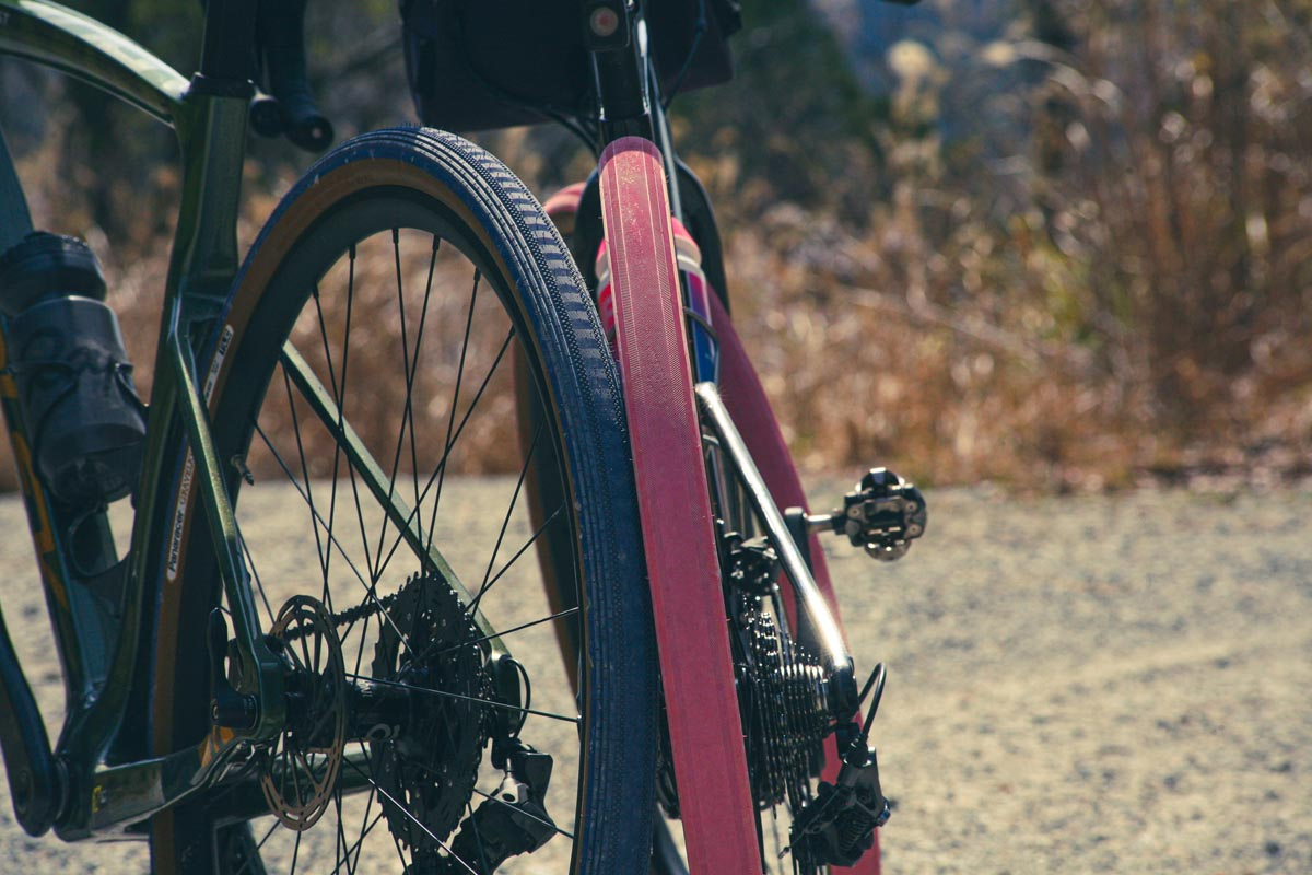 2021 limited edition panaracer gravelking tires in pink and blue