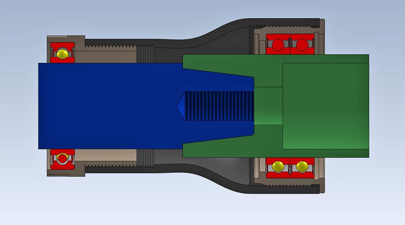 Bombtrack BSA-47 BB, new threaded bottom bracket standard concept, prototype crankset axle