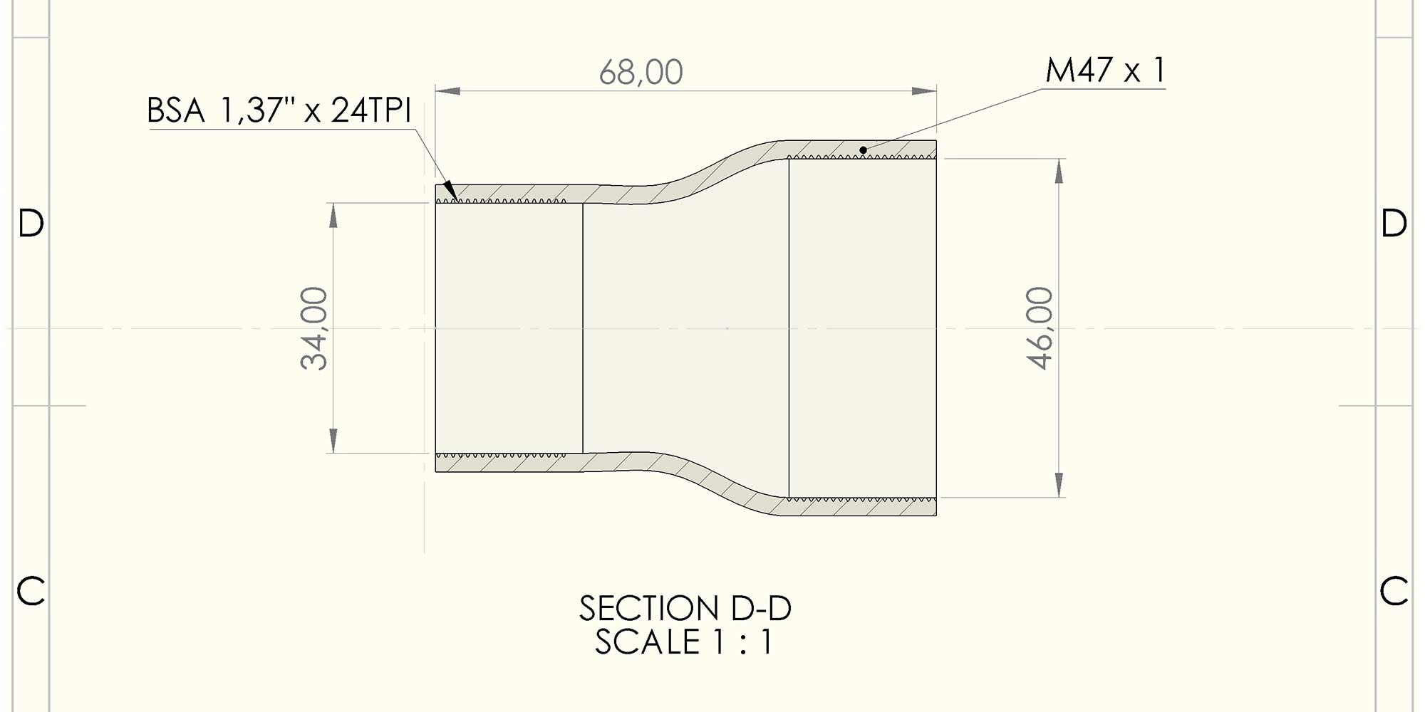 Bombtrack BSA-47 BB, new threaded bottom bracket standard concept, open standard dimensions
