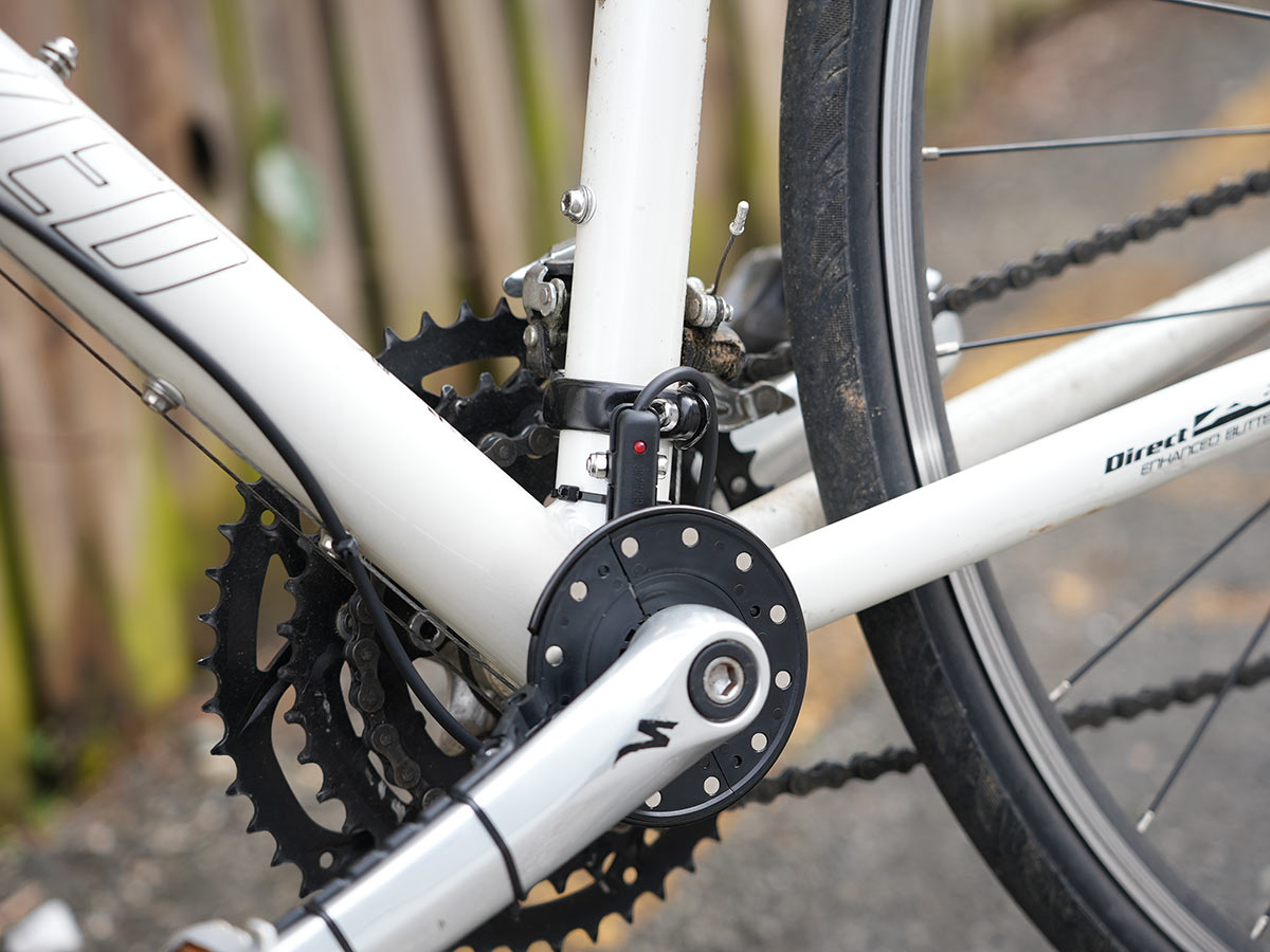 swytch e bike conversion kit installed on a bicycle