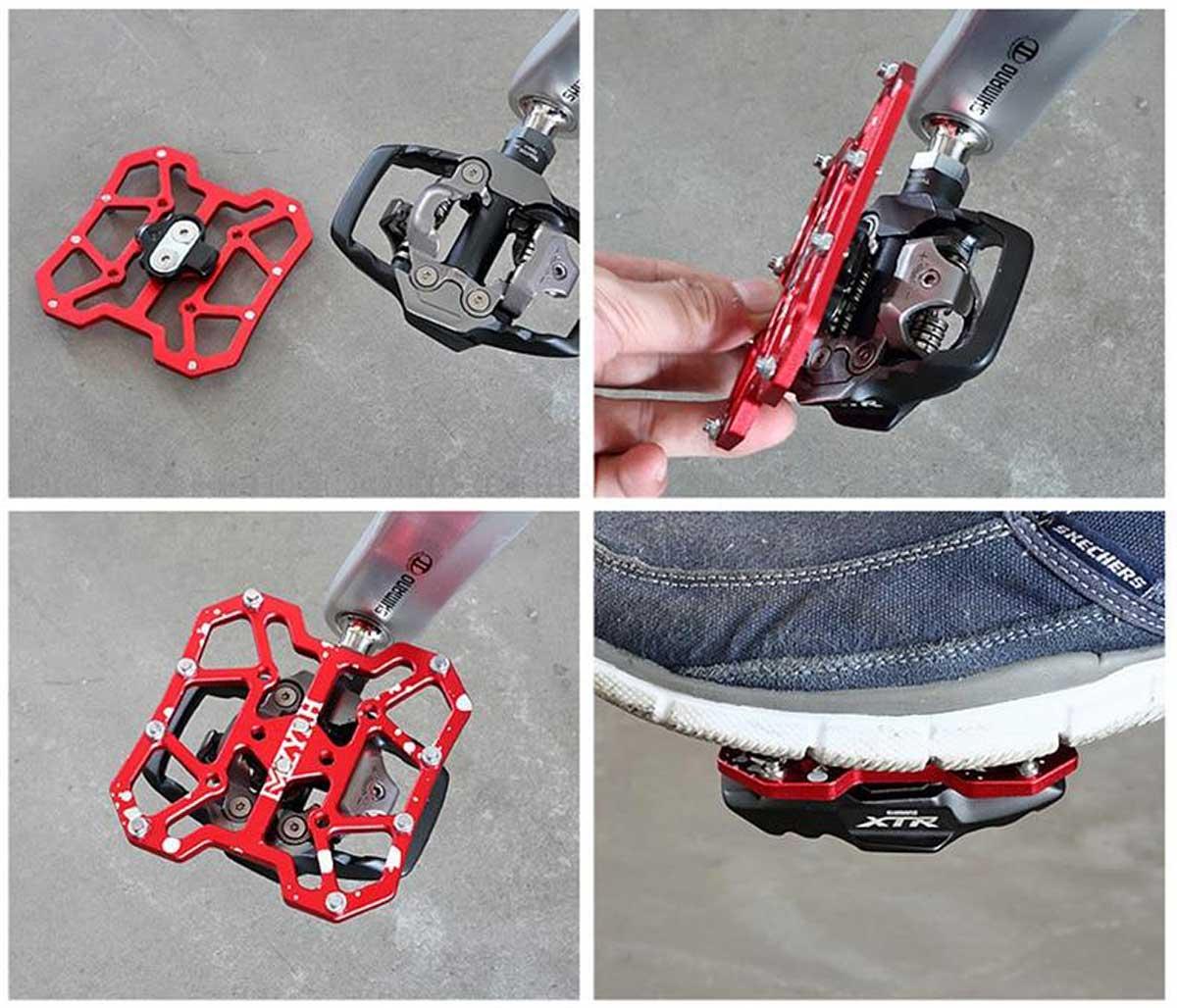 install crankwork clipless pedal adapter flat platform