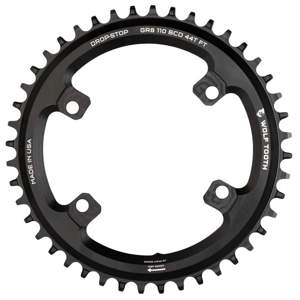 36t Drop-Stop 1x chainring for Shimano GRX cranks