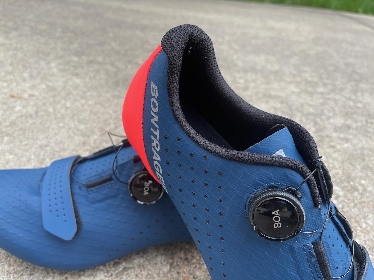 Bontrager Circuit shoe material close up