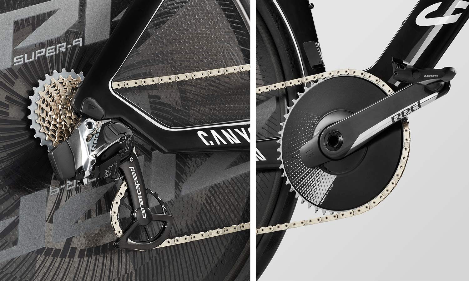 2021 Canyon Speedmax CFR TT Disc, carbon race-ready UCI-approved time trial bike, SRAM Red AXS 1x12sp drivetrain Quarq power meter CeramicSpeed OSPW