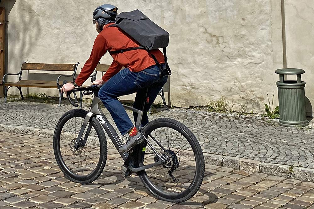 Apidura City Backpack, waterproof bikepacking tech in city commuter bag,riding